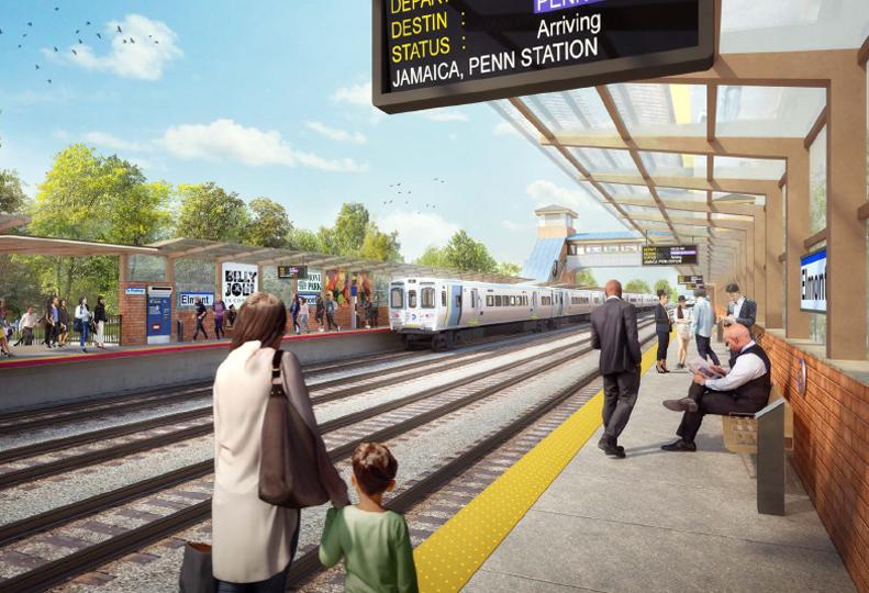 Elmont LIRR Station (Rendering)