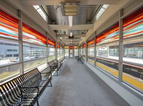Hicksville Station Platform Waiting Area 09-06-18 (Photo by MTA Capital Construction/Trent Reeves)