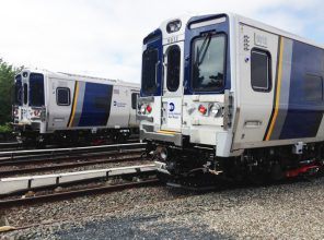 New M9 Rail Car at LIRR Hillside Test Site