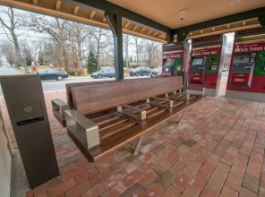 New USB Charging Stations & New Benches - Stony Brook Station - 12-14-18