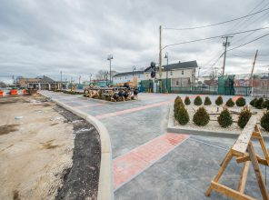 Ongoing Landscaping at Port Jefferson Station - 12-14-18