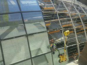 Moynihan Train Hall Mid Block Skylight Glass Installation 11-29-18