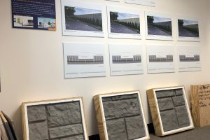 Sound Wall samples on display at Community Information Center - 01-31-19