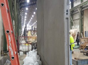 Sound Wall manufacturing at the Fort Miller precast concrete plant in Greenwich, NY 01-31-19