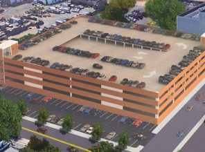 Westbury North Parking Structure – Architectural Rendering