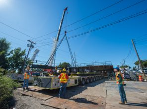 Installation of New Nassau Blvd. Bridge – 10-05-19