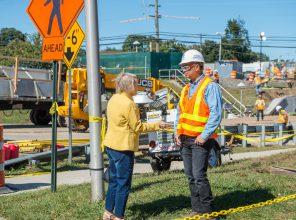 Installation of New Nassau Blvd. Bridge – 10-05-19