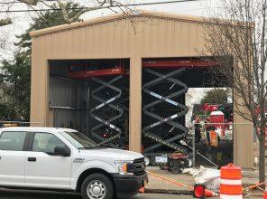 Covert Avenue Grade Crossing Elimination Temporary Firehouse - 03-29-19