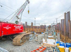 Construction at Nassau Blvd. Bridge – 08-23-19
