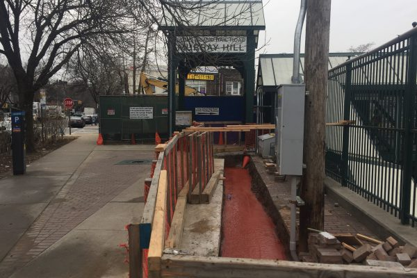 Installation of Elevators at Murray Hill Station 1-4-19