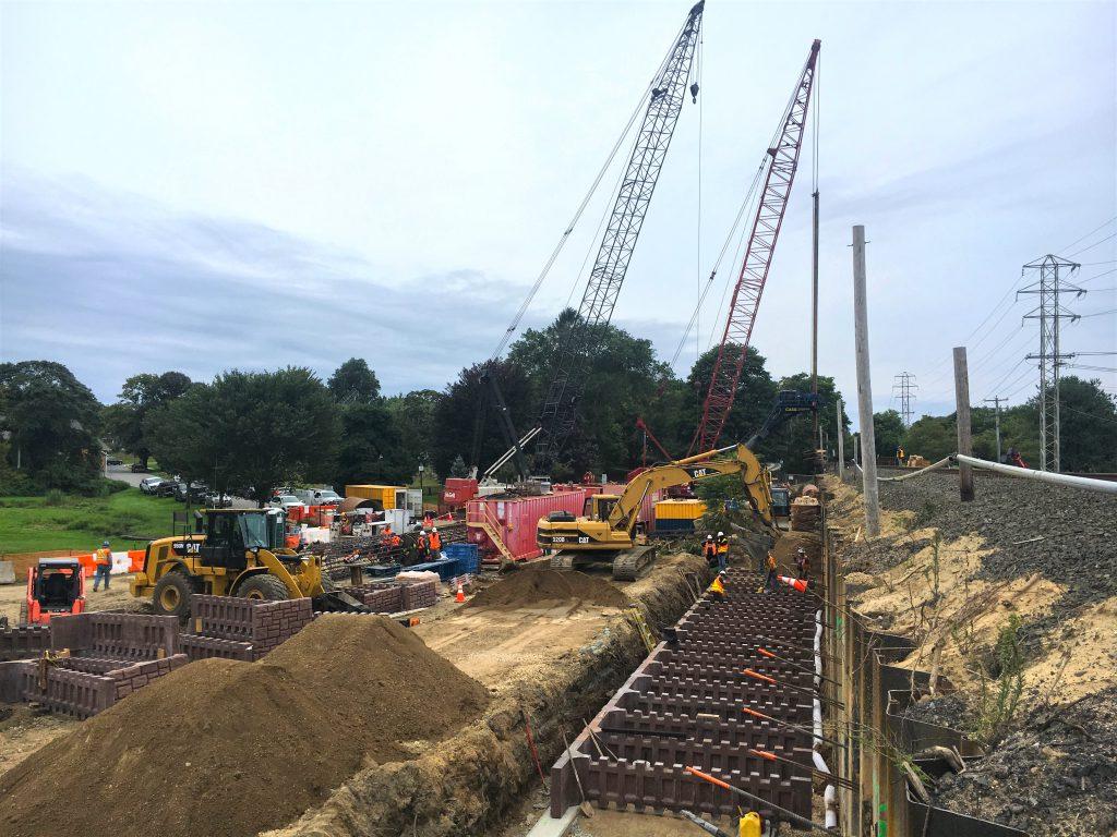 Accabonac Road Bridge - South Retaining Wall - 09-6-19