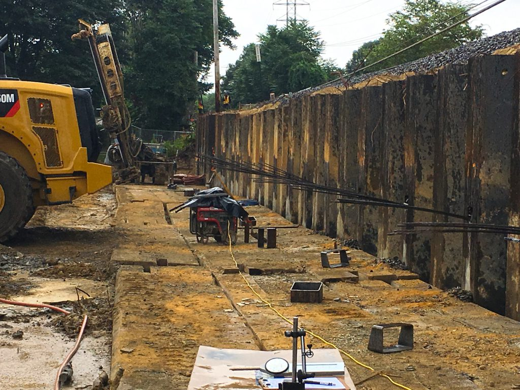 Accabonac Road Bridge - Completed Sheet Pile wall - 08-21-19