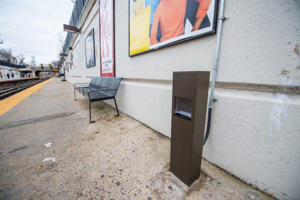 New USB Charging Station - Eastbound Platform - Great Neck Station - 12-14-2018