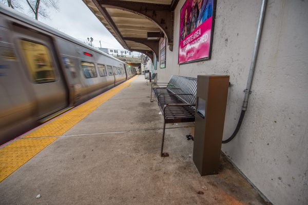 New USB Charging Station - Westbound Platform - 12-14-2018