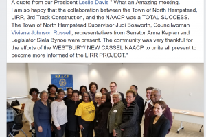 LIRR Expansion Project Outreach Team Meets with Westbury/New Cassel NAACP Chapter and Local Officials