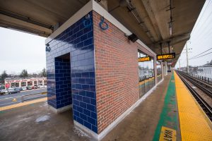 Exterior of Platform Waiting Room at Merrick Station - 01-29-19