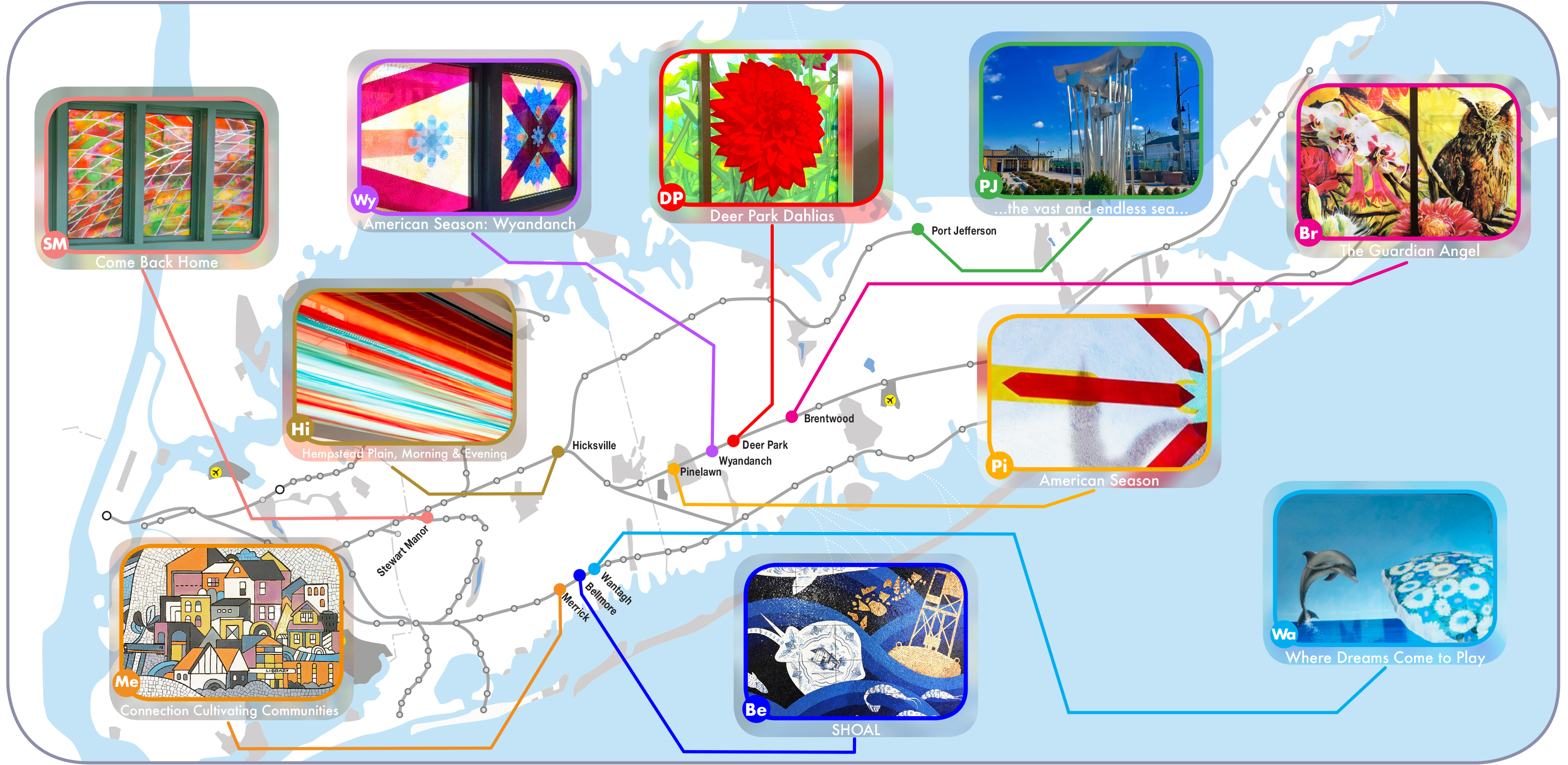 Guide to LIRR 2018 Art Installations