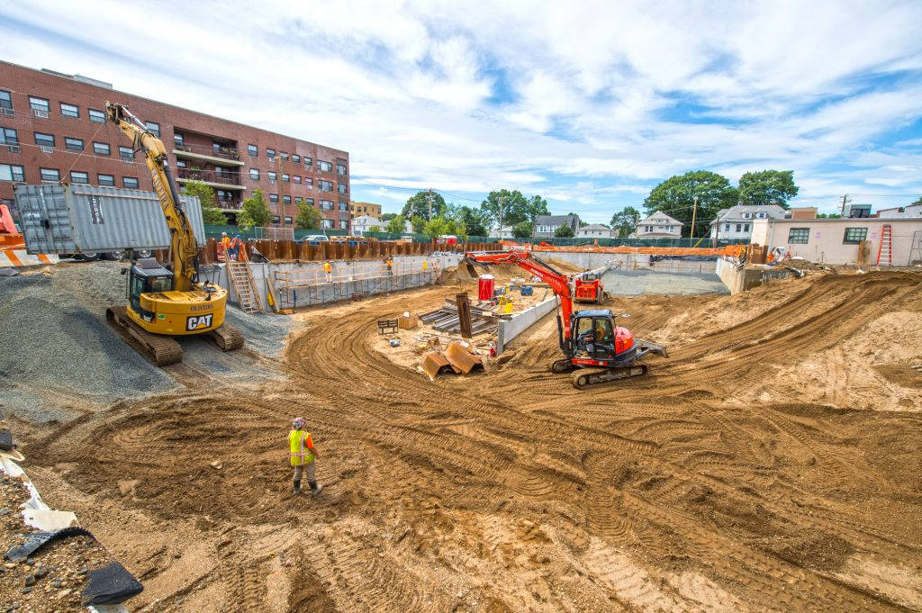 Mineola Harrison Parking Foundation Nearly Complete - 7-01-19