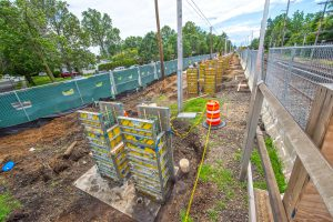 Forms in Place for Concrete Pours at Merillon Avenuen - 07-01-19