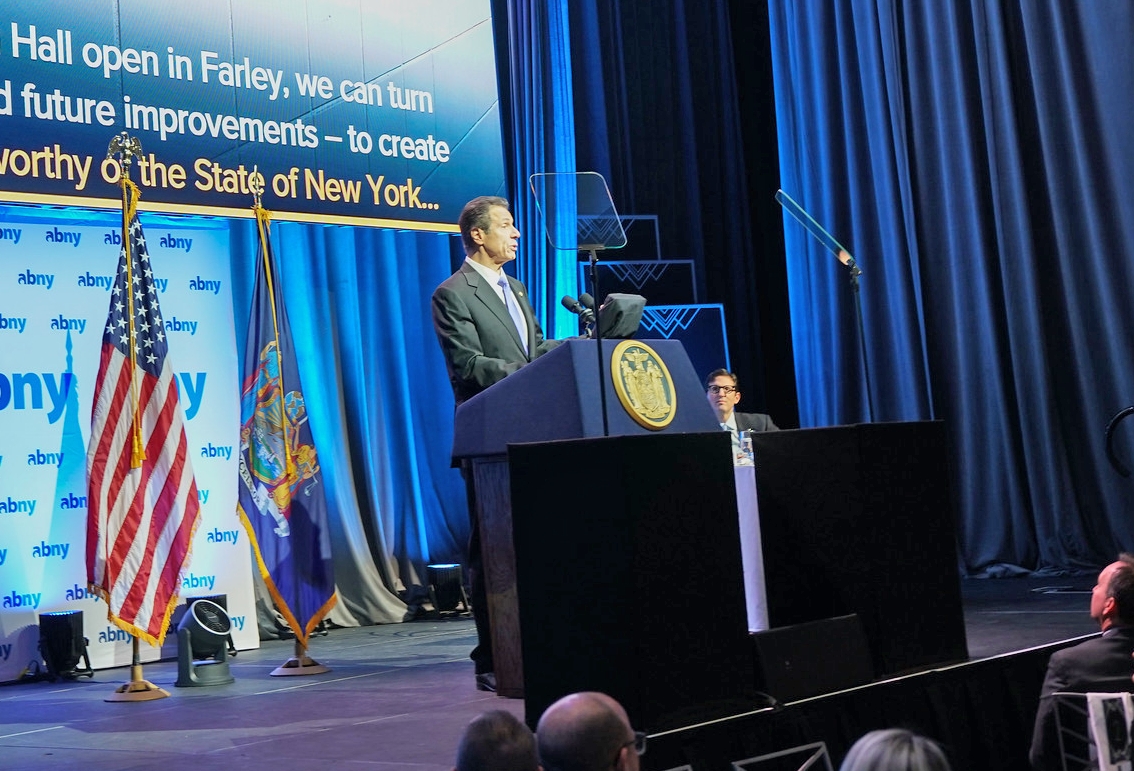 Governor Andrew Cuomo speaks at Association for a better New York luncheon.