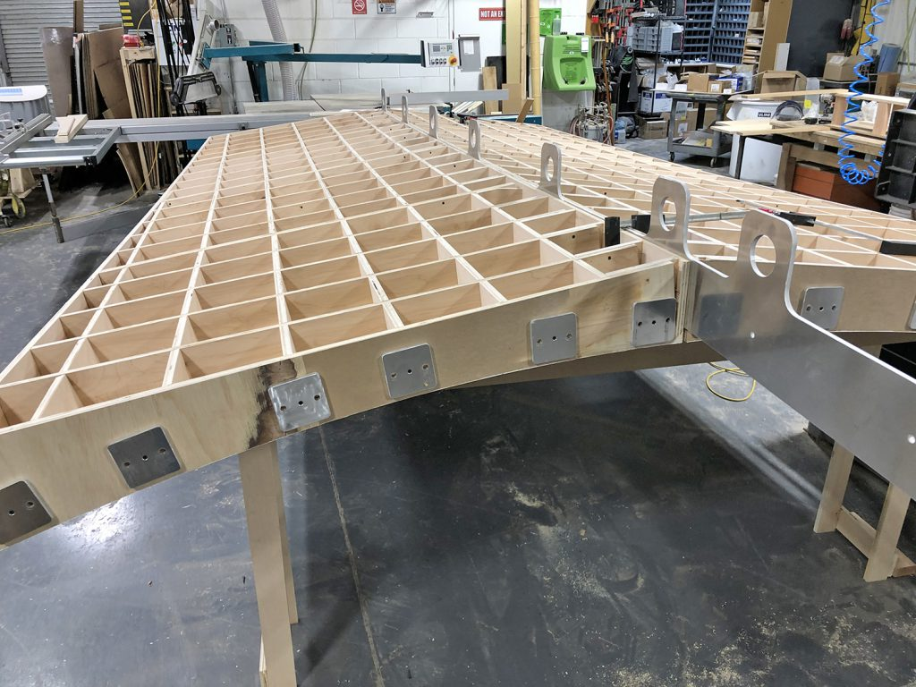 The full-scale mock-up being assembled at Duggal Visual Solution's Navy Yard complex for in-person evaluation on June 15th