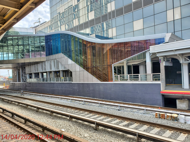 Jamaica Station - Rainbow Glass Installation - 06-22-20
