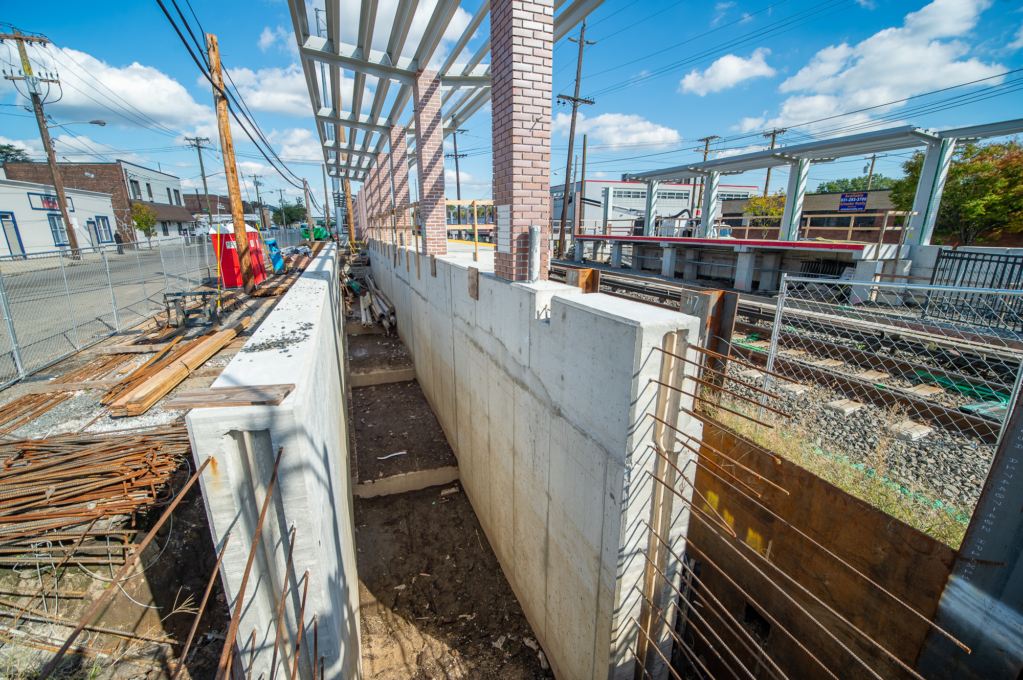 Entrance to the future S. 12th Street pedestrian underpass under construction - 10-22-20