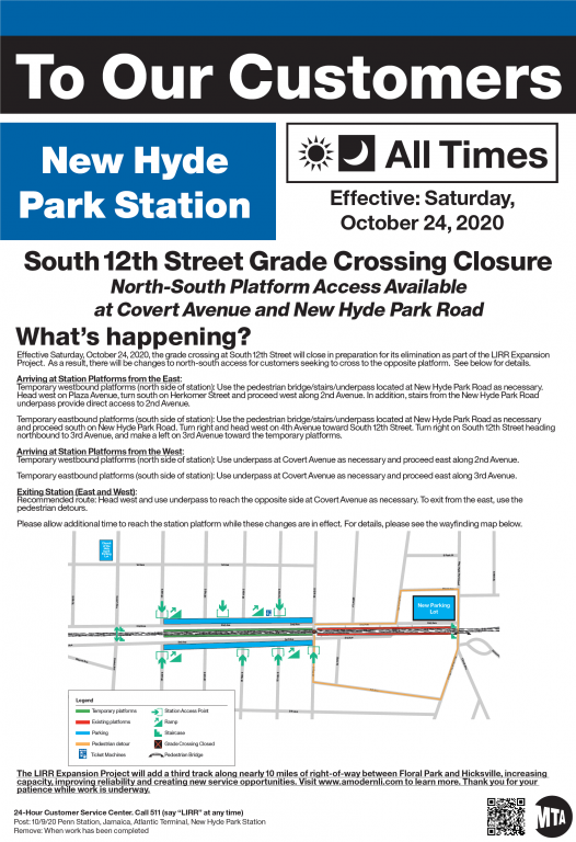 New Hyde Park Station flyer - 10-24-20